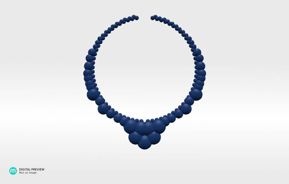 Plastic matte blue                                                Necklaces Jewelry 3D printed