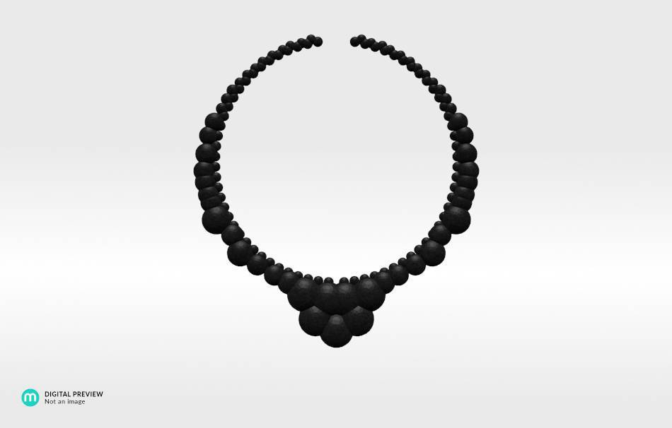 Plastic matte black                                                Necklaces Jewelry 3D printed