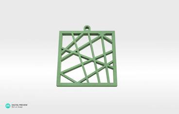 Square vector pendant - Plastic glow-in-the-dark glow in the dark