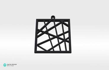 Square vector pendant - Resin black