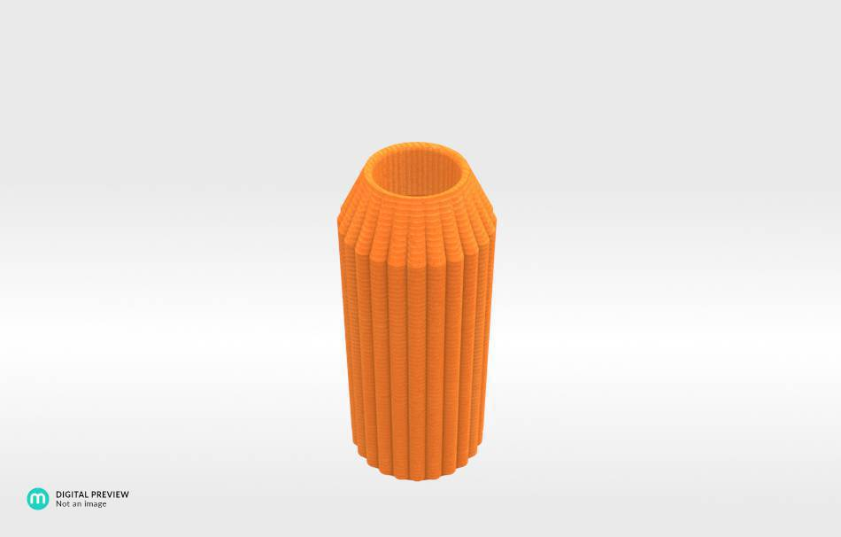 Plastic shiny & sturdy orange                                                Organizers Organizers Decoration Decoration Home Office 3D printed