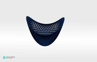 Structure bowl - Plastic matte blue