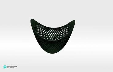 Structure bowl - Plastic matte green