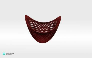 Structure bowl - Plastic matte red