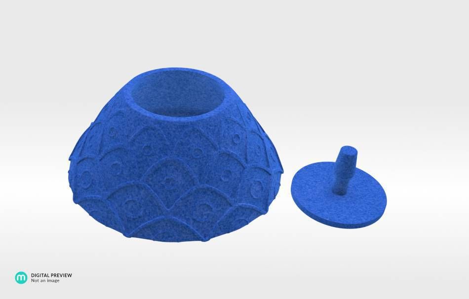 Plastic matte blue                                                Organizers Organizers Decoration Decoration Home Others Office Others 3D printed