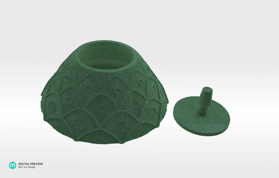 Plastic matte green                                                Organizers Organizers Decoration Decoration Home Others Office Others 3D printed