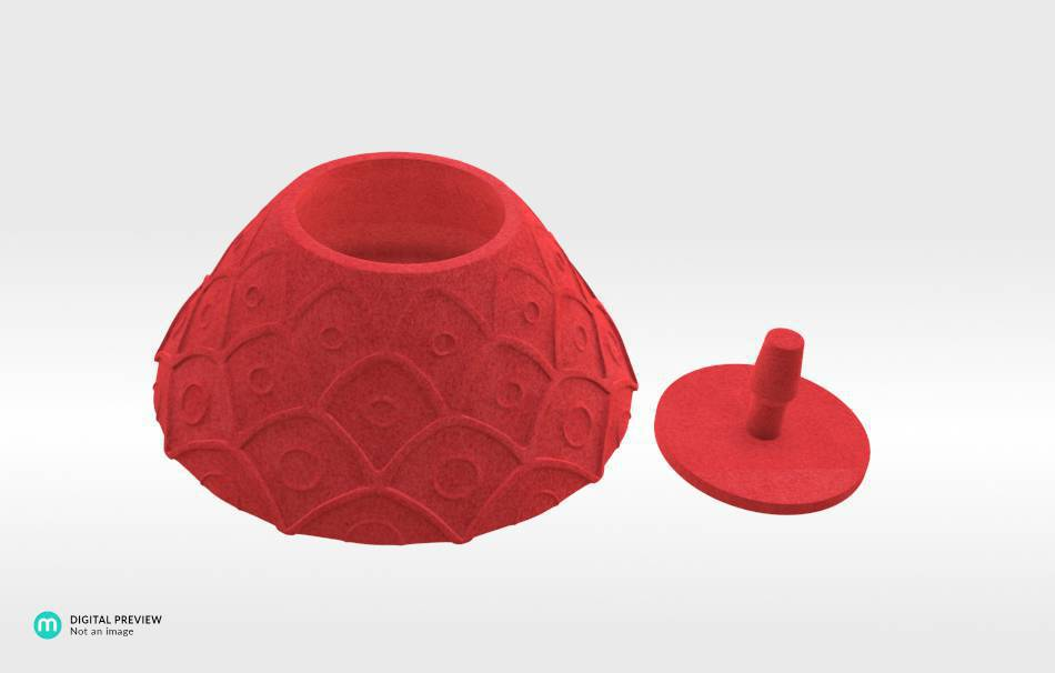 Plastic matte red                                                Organizers Organizers Decoration Decoration Home Others Office Others 3D printed