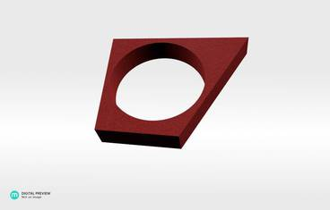 """Svaw"" ring - Plastic matte red"