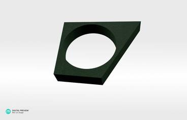"""Svaw"" ring - Plastic matte green"