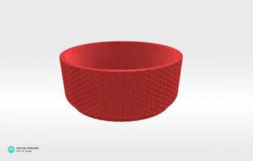 Table 7 Bowl 1 - Plastic matte red