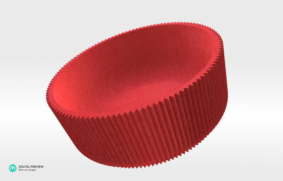 Plastic matte red                                                Decoration Decoration Home Office 3D printed