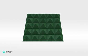 Table 7 Snack plate - Organic plastic green