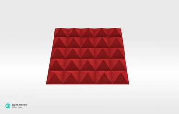 Table 7 Snack plate - Organic plastic red