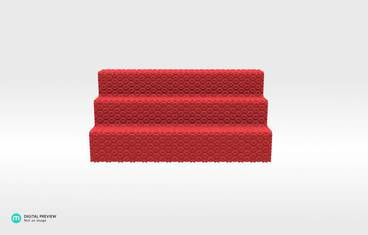 Table 7 Toothpick holder - Plastic matte red