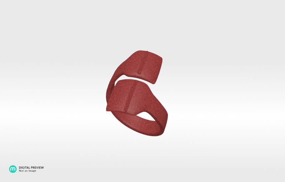 Sandstone red                                                Jewelry Rings 3D printed