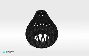 Tea light candle holder - Plastic matte black