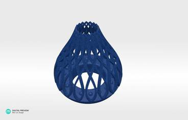 Tea light candle holder - Plastic matte blue