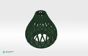 Tea light candle holder - Plastic matte green