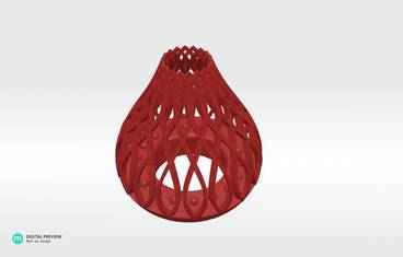 Tea light candle holder - Plastic matte red