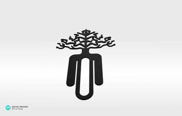 Tree bookmark - Plastic matte black