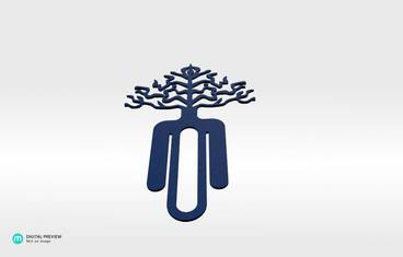 Tree bookmark - Plastic matte blue