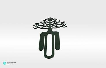 Tree bookmark - Plastic matte green