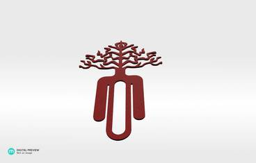 Tree bookmark - Plastic matte red
