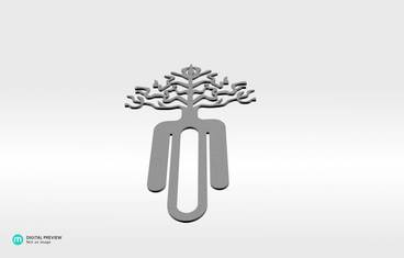 Tree bookmark - Plastic matte white