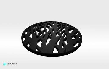 Tree cup coaster - Plastic matte black