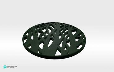 Tree cup coaster - Plastic matte green
