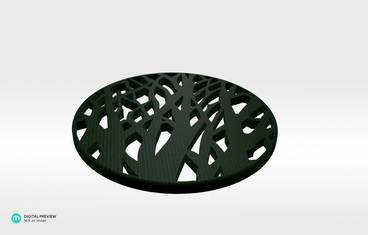 Tree cup coaster - Organic plastic green
