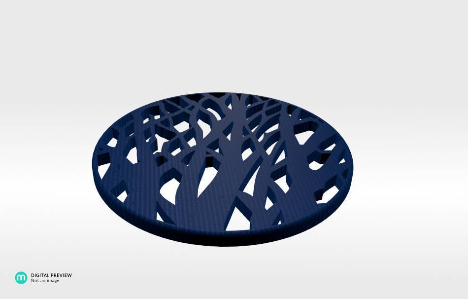 Plastic shiny & sturdy blue                                                Decoration Decoration Home Office Others Others 3D printed