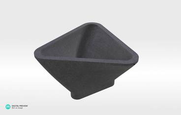 Triangle Bowl - Sandstone black