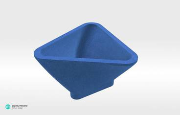 Triangle Bowl - Sandstone blue