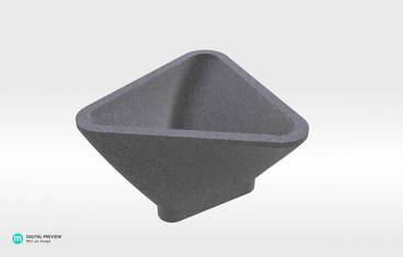 Triangle Bowl - Sandstone grey