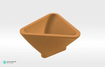 Triangle Bowl - Sandstone orange