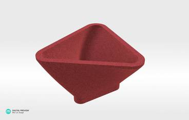 Triangle Bowl - Sandstone red