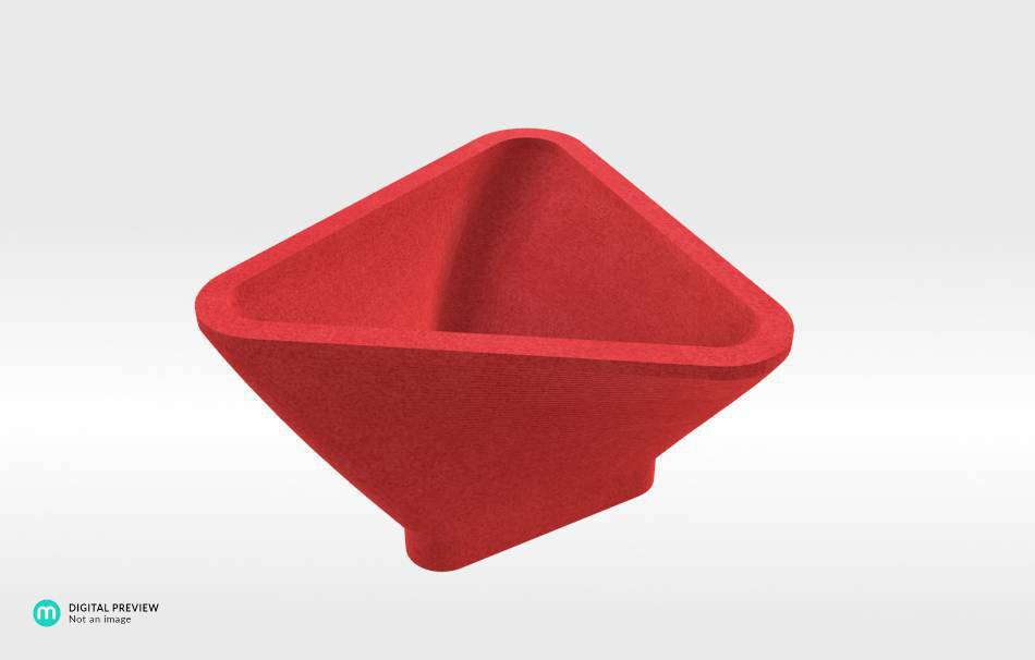 Plastic matte red                                                Organizers Home 3D printed