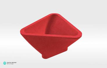 Triangle Bowl - Plastic matte red
