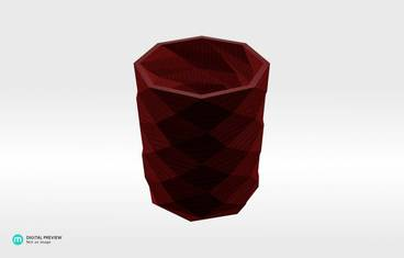 Triangulated pencil holder - Organic plastic red