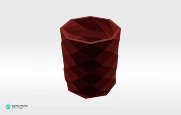Triangulated pencil holder - Plastic matte red