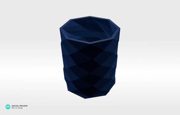 Triangulated pencil holder - Plastic matte blue