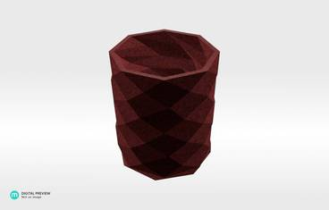 Triangulated pencil holder - Sandstone red