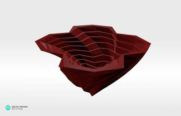 Twisted planter - Organic plastic red