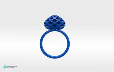 Vagman Ring - Resin blue
