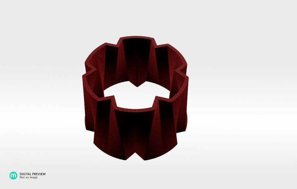 Organic plastic red                                                Bracelets Jewelry 3D printed