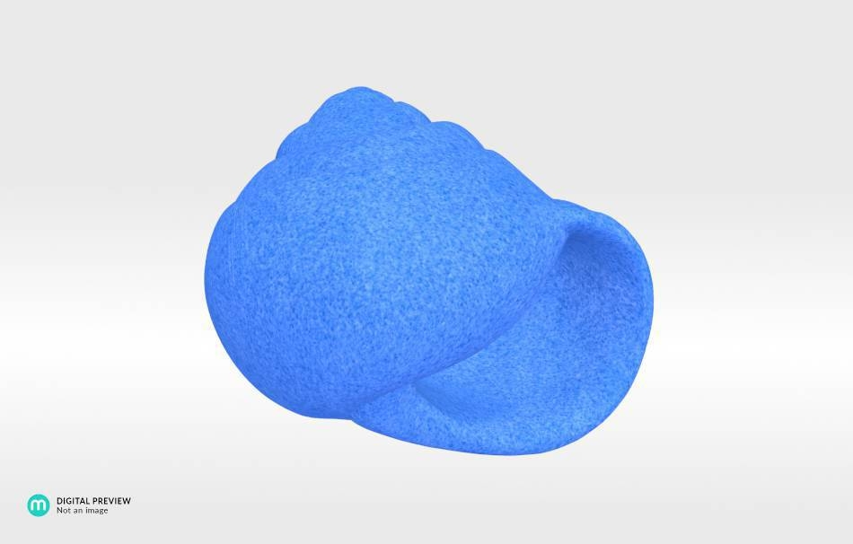 Plastic matte blue                                                Decoration Decoration Home Office 3D printed