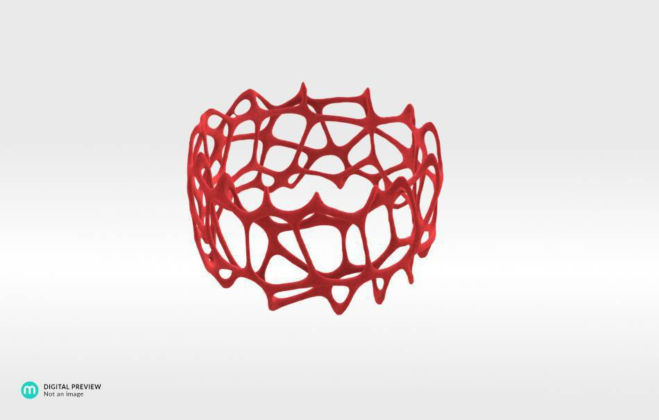 Plastic matte red                                                Jewelry competition | winning designs Top designs Bracelets Jewelry 3D printed