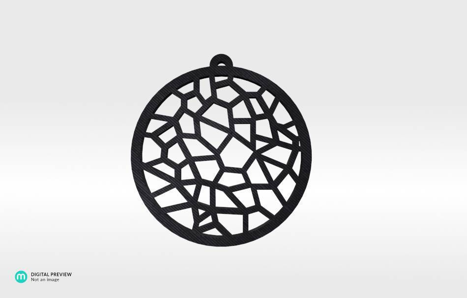 Plastic shiny & sturdy black                                                Jewelry Pendants 3D printed