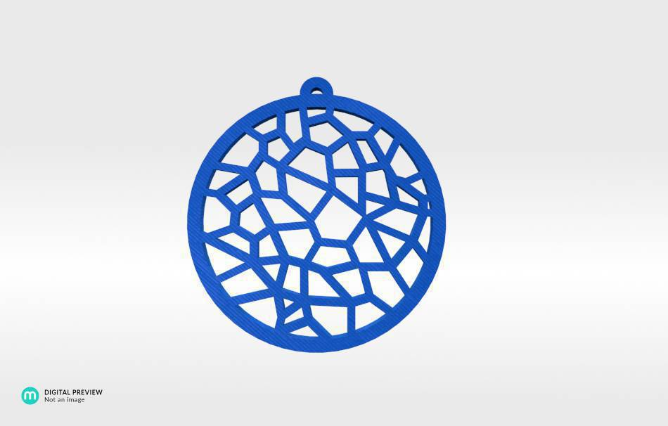 Plastic shiny & sturdy blue                                                Jewelry Pendants 3D printed